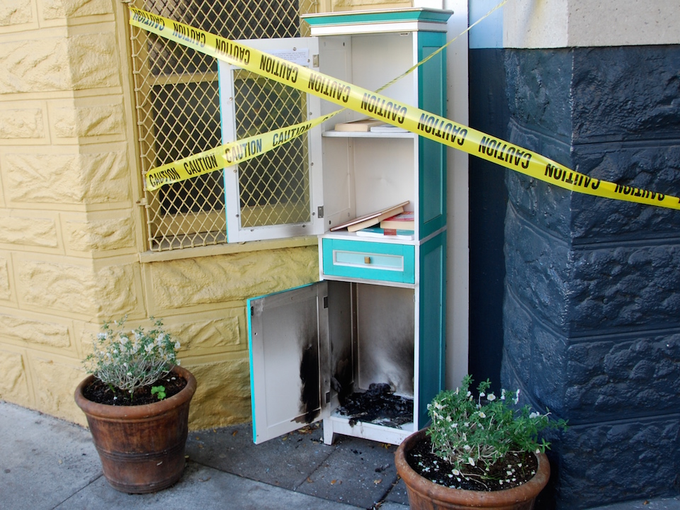 Little free library arson