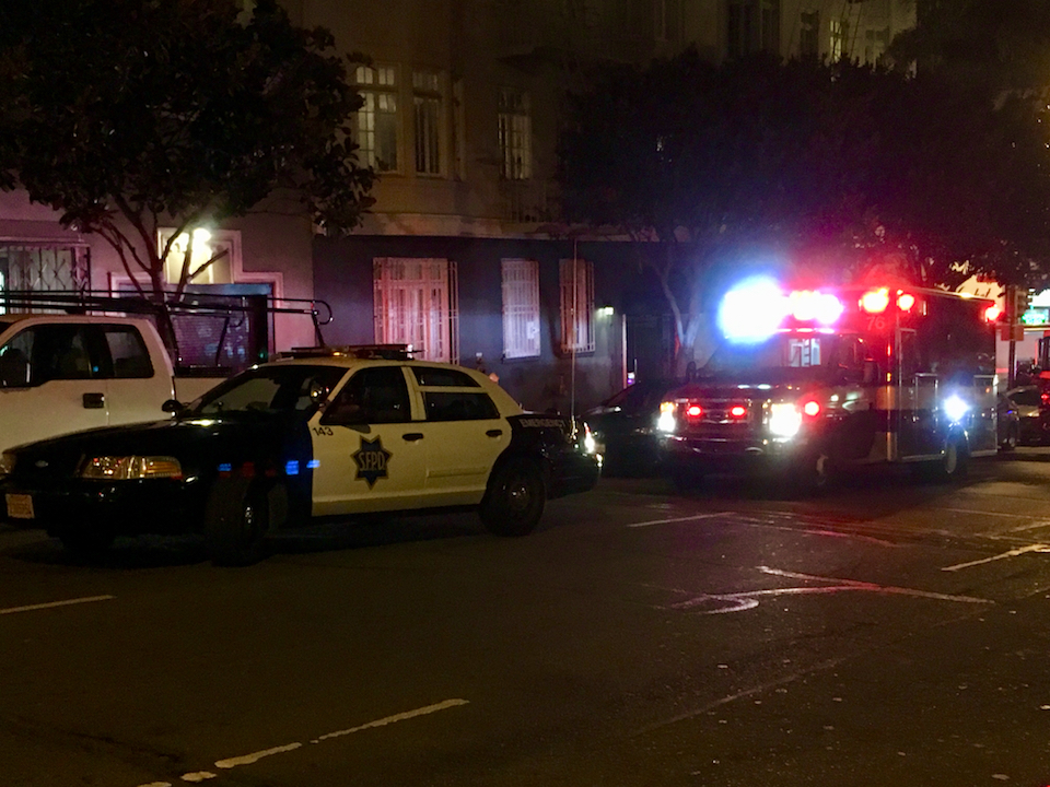 Police car and fire truck