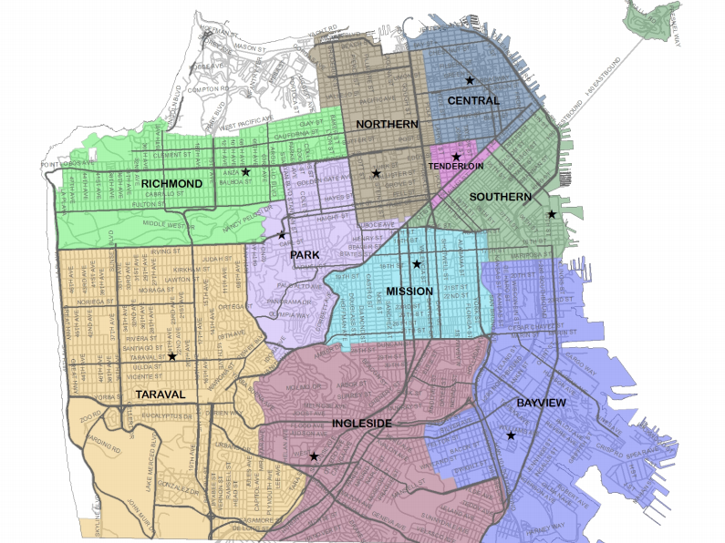 Citywide SFPD Redistricting To Take Effect Sunday Hoodline
