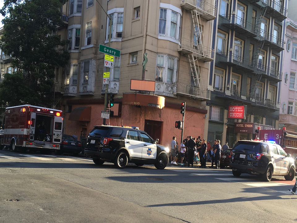 Cops at hyde and geary