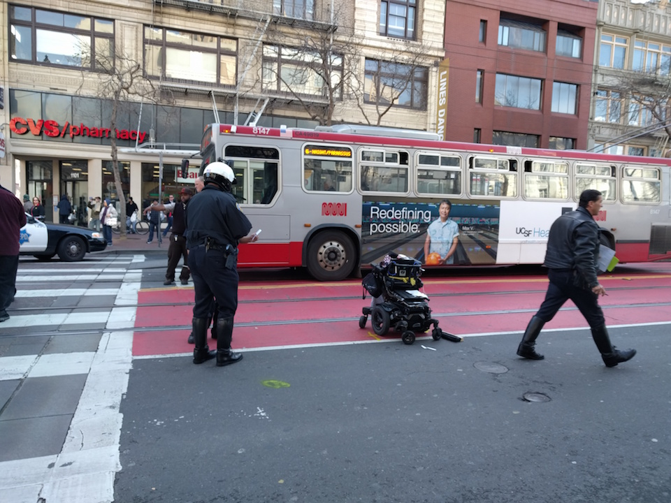 Woman In Wheelchair Struck By City Vehicle Making Left Turn At