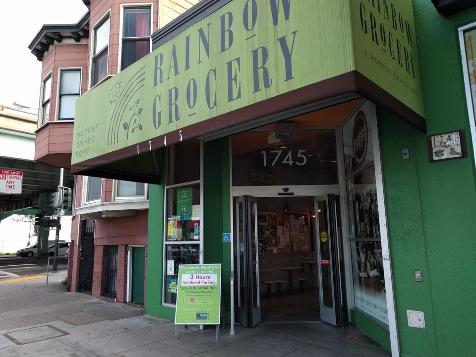 Rainbow grocery entrance 2