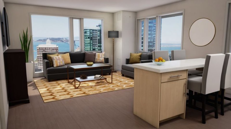 Perhaps the most impressive amenity for new residents is the 11 different  outdoor spaces  including a ground level interior courtyard  a rooftop  sundeck. Fremont   Folsom Luxury Apartment Building  Solaire  Starts