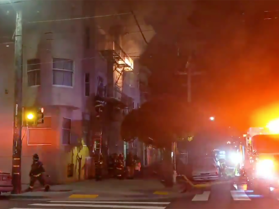 18 displaced after 1-alarm fire at Baker & Hayes last night