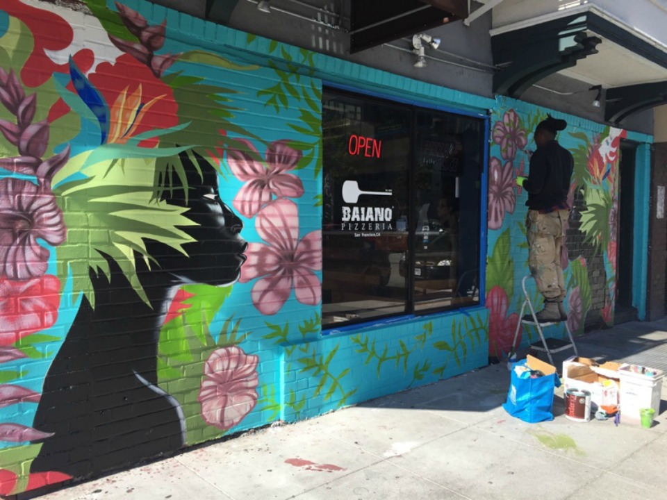 Bruno Matos Gallery: New Mural On Gough And Page Celebrates Brazilian Culture