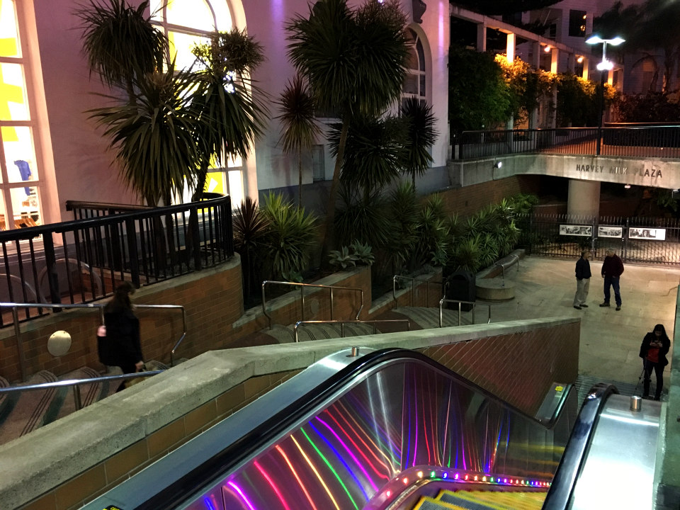 Main image downing rainbow escalator
