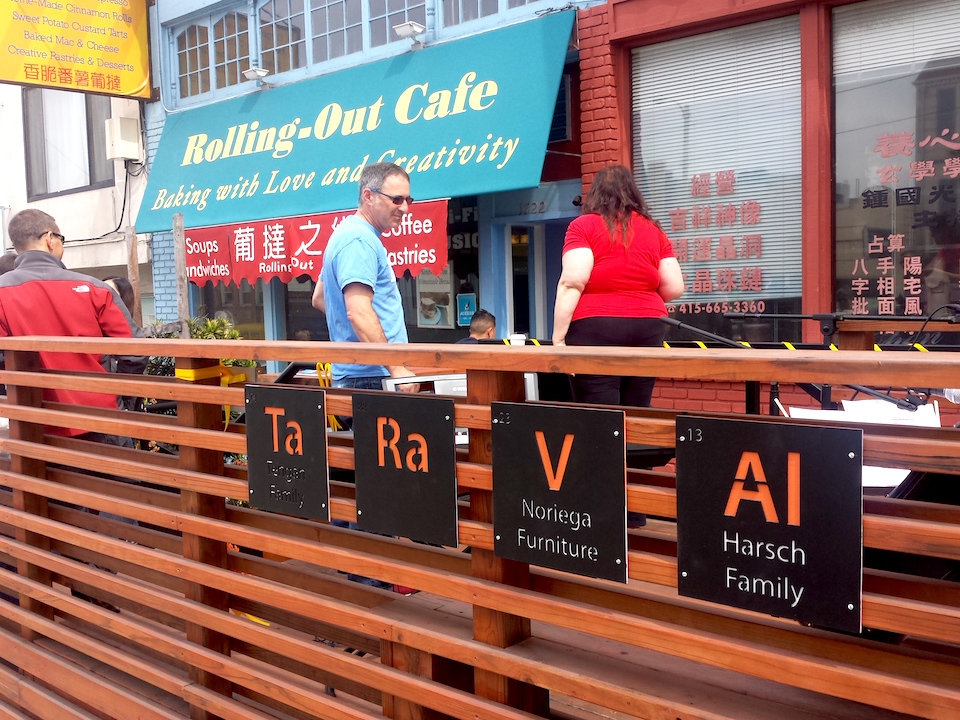 The New Parklet Features The Names Of Contributors Who Participated In The  Fundraiser To Make It Possible.