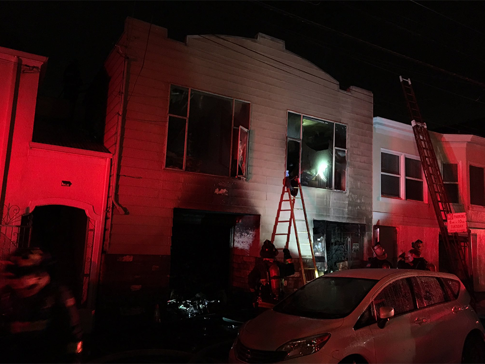 6 injured, 17 displaced in Outer Mission house fire