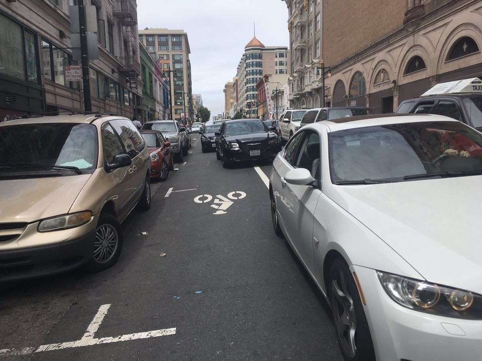 Golden gate bike lane trouble