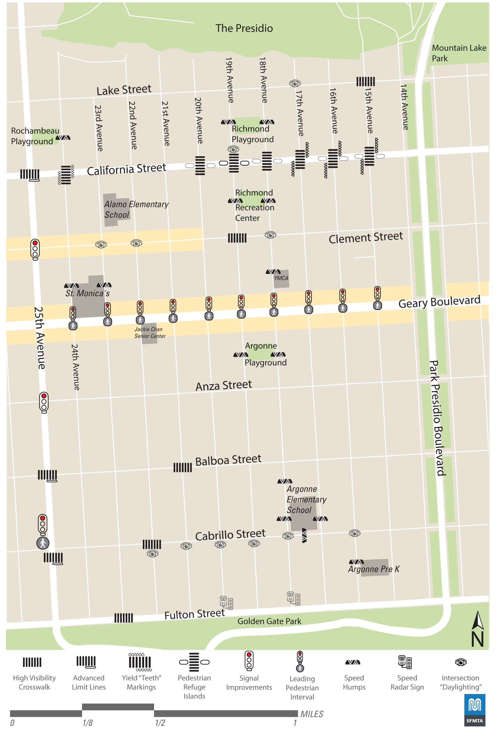 Richmond Traffic Map.Sfmta To Tackle Pedestrian Safety In Central Richmond Abc7news Com