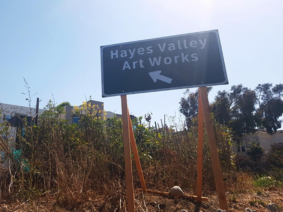 Hayes valley artworks sign