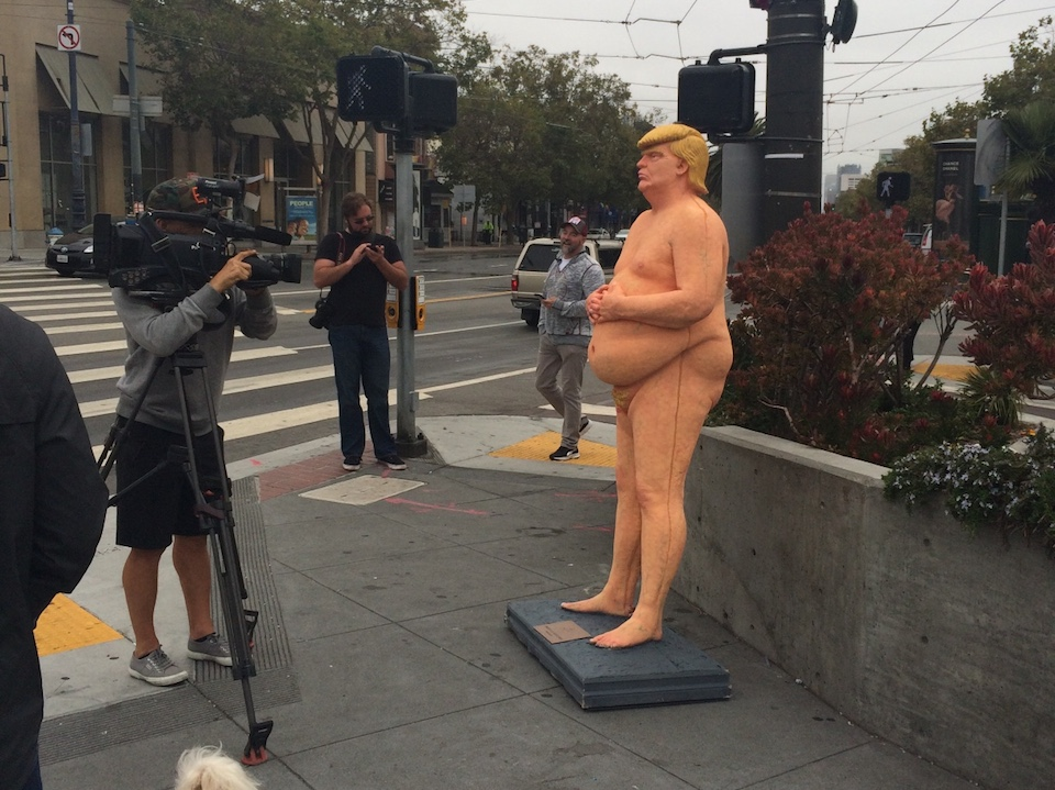 Naked Donald Trump statues pop up in cities across the US
