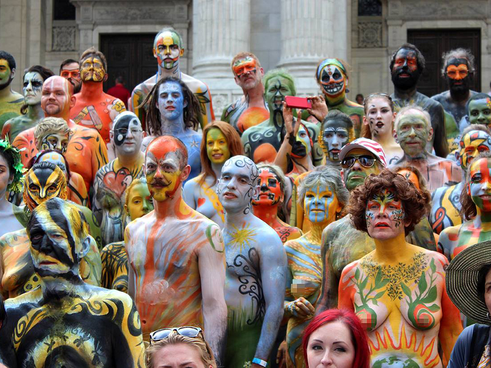 Sunday Bodypainting Day Brings Live Nude Painting Naked March Protest To The Waterfront Nsfw Hoodline