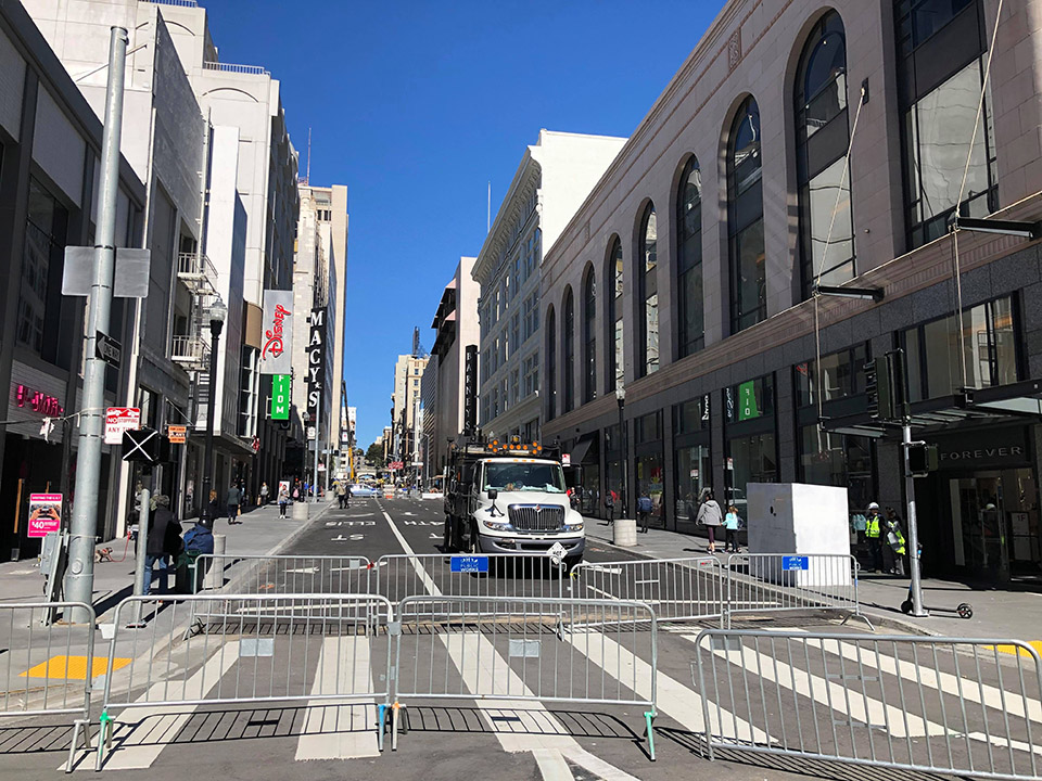 7-year closure of Stockton Street near Union Square to end tomorrow
