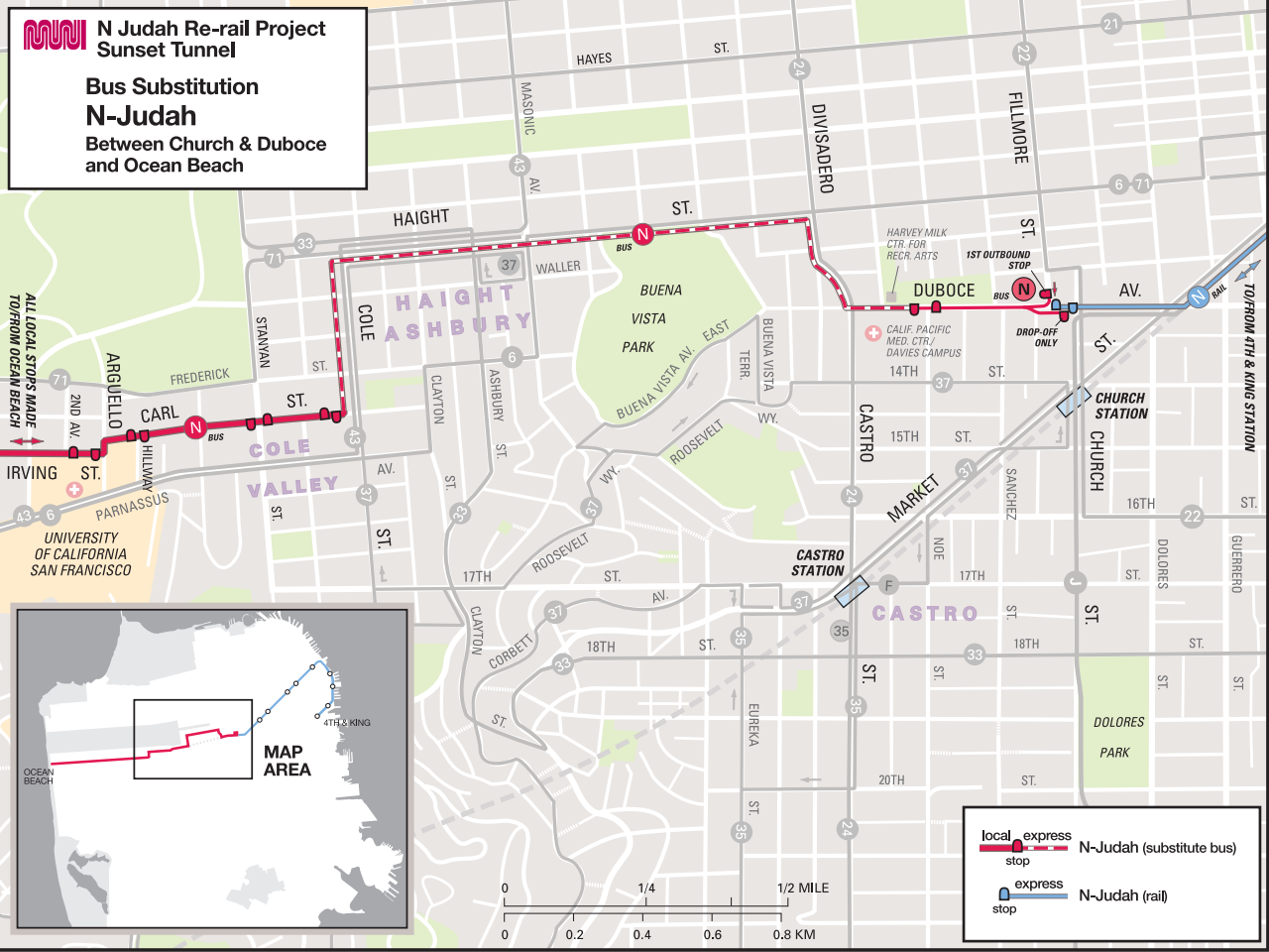 Final Muni Sunset Tunnel Shutdown Once Set For This Month Pushed