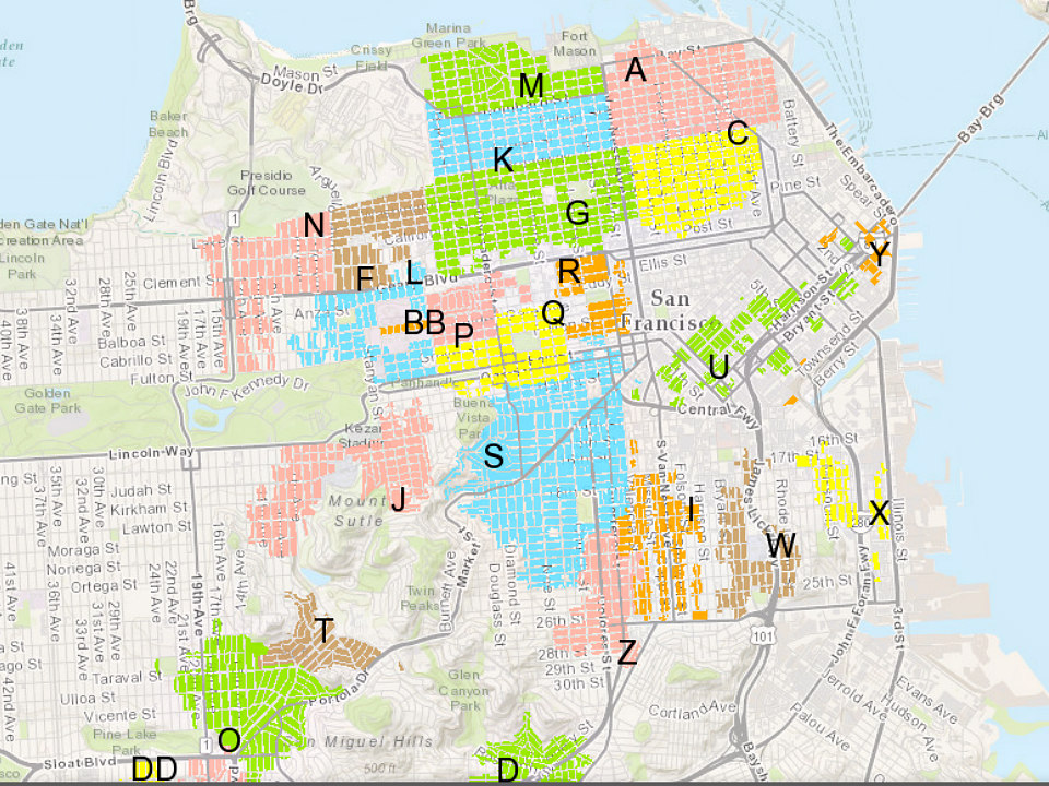 With New Zones Proposed, SF's Parking Permit Program Leaves ... Sf Residential Parking Map on sf safety map, sf light rail map, sf streetcar map, park map, sf transportation map, sf bar map, sf sewer map, sf neighborhood map, sf bus map, sf muni map, sf traffic map, sf airport map, san francisco map, sf weather map, sf giants stadium parking, sf metro map, sf trolley map, sf planning map, sf street map,