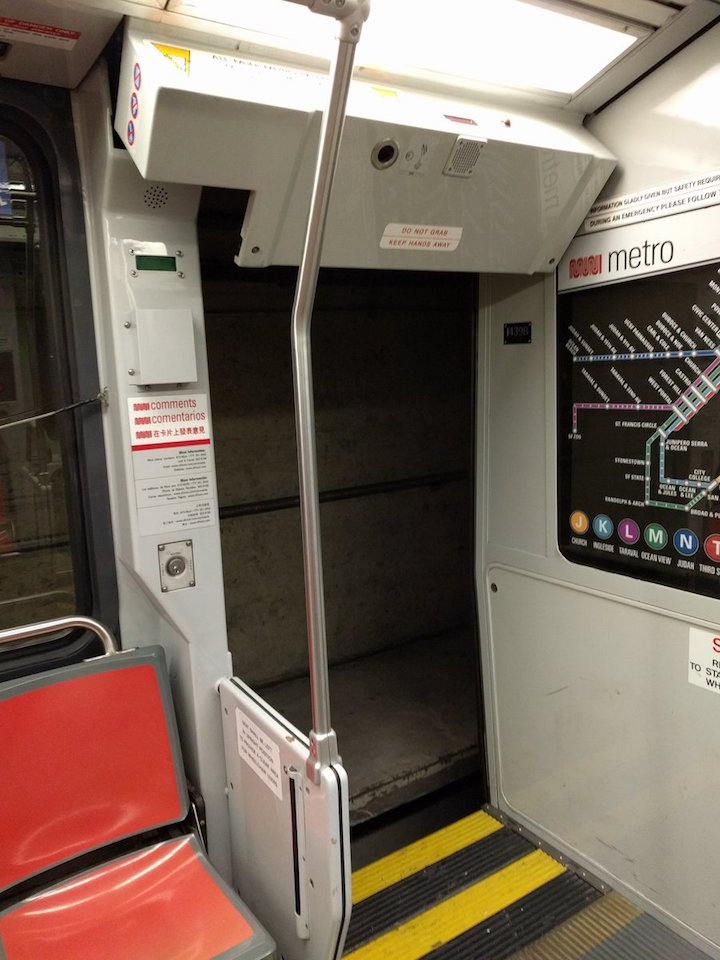 Chang said the door \ flew off\  when it hit an obstruction. | Photo James Chang/Twitter & Broken Closing Mechanism Caused Door To Fly Off Moving Train In ...