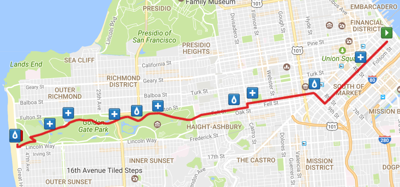 Bay To Breakers Map Bay To Breakers Street Closures, Reroutes On Sunday | Hoodline Bay To Breakers Map
