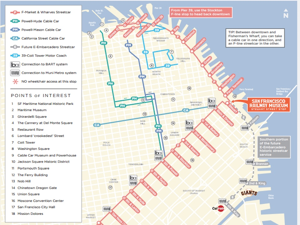 Nob Hill San Francisco Map.Federal Funds Could Revive Fort Mason F Line Extension Plan Hoodline