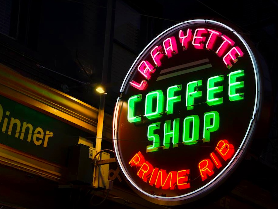 Lafayette coffee sign al barna fb