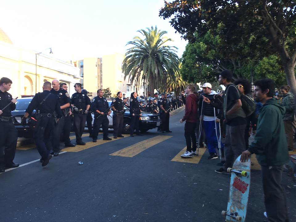 San Francisco Police And Skateboarders Face Off At Dolores Park