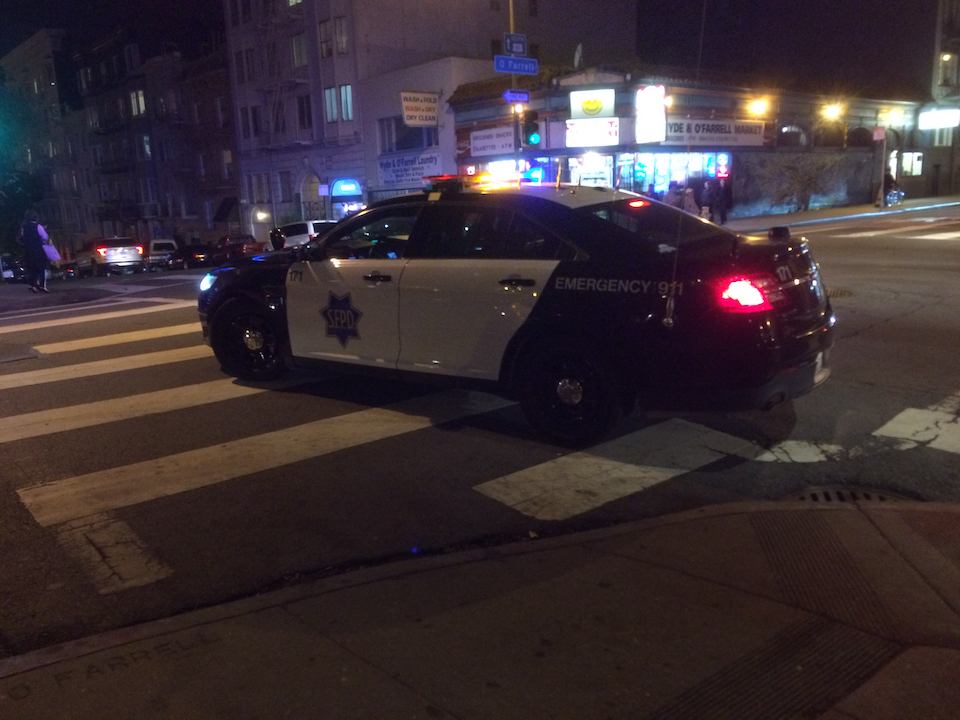 Cop at ofarrell and hyde