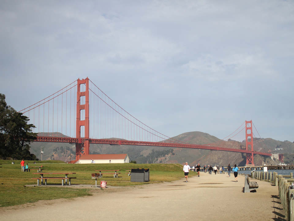 Crissy field with golden gate park