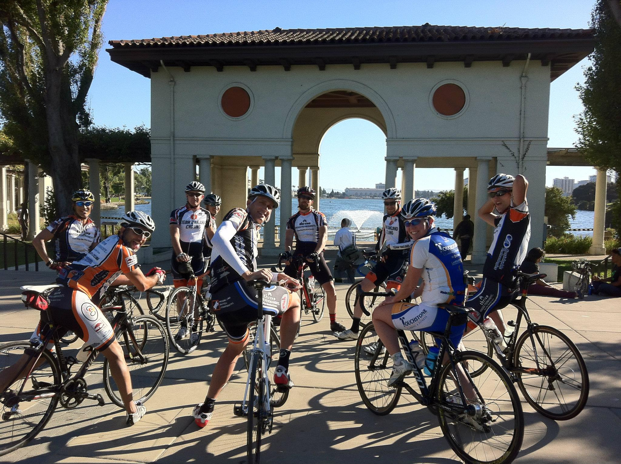 Team oakland cycling feature photo at lake merritt