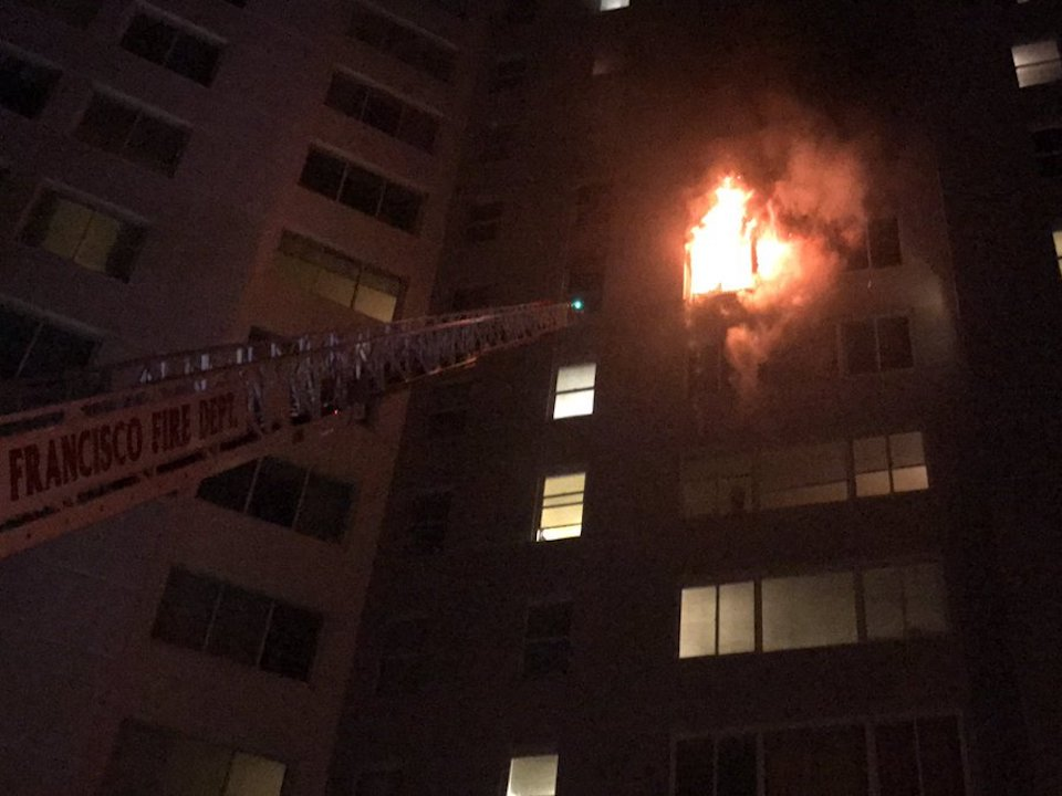 Three people rescued in San Francisco apartment fire