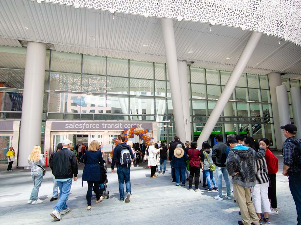 Salesforce Transit Center to reopen next week — without any transit