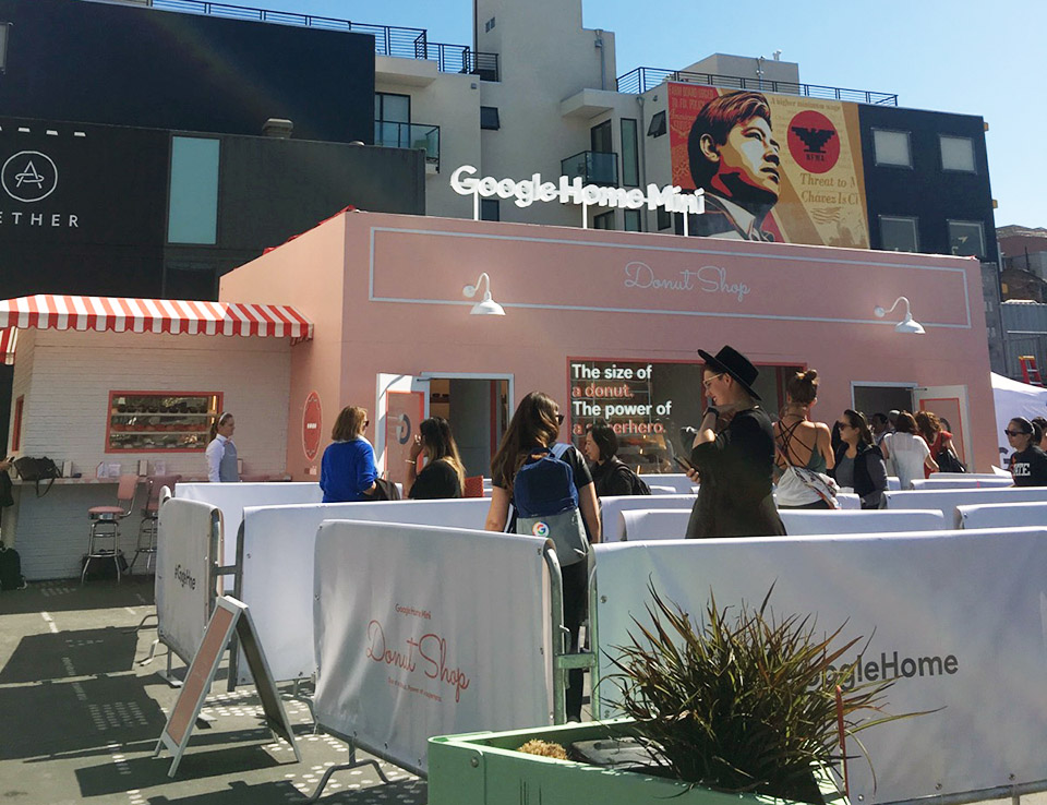 Google Home Donuts >> Google Home Mini Donut Shop Pops Up In Hayes Valley Hoodline