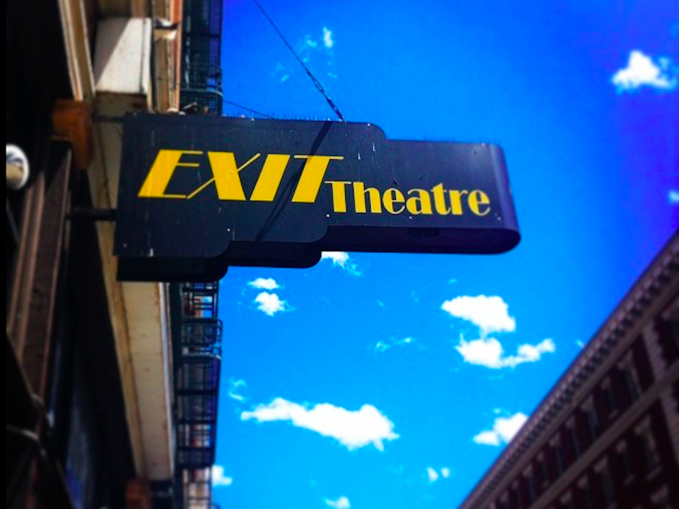Exit theater sign fb