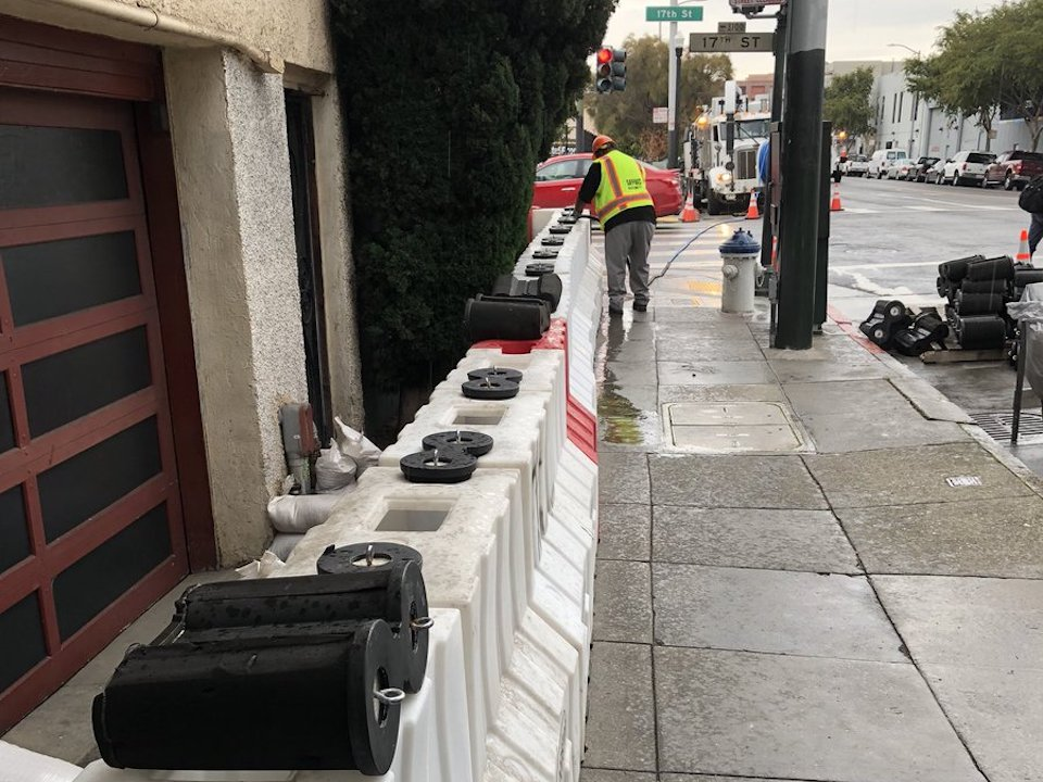 Flood barriers at 17th and folsom