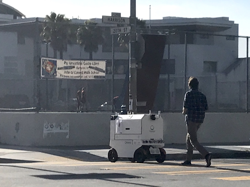Delivery robot in the mission  1