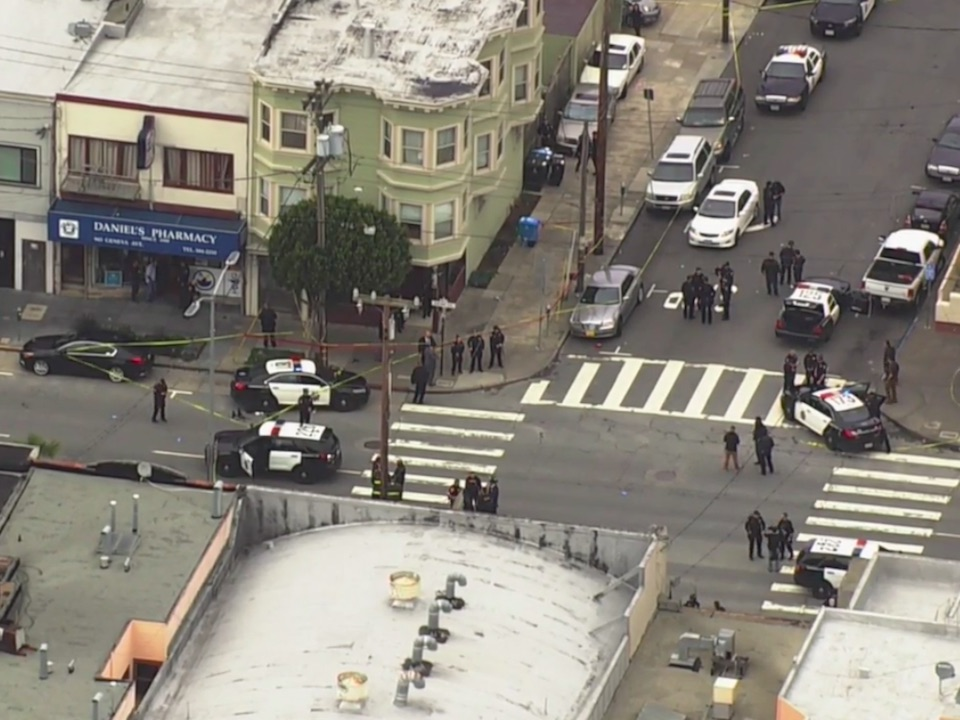 SF police officer, suspect shot and rushed to hospital