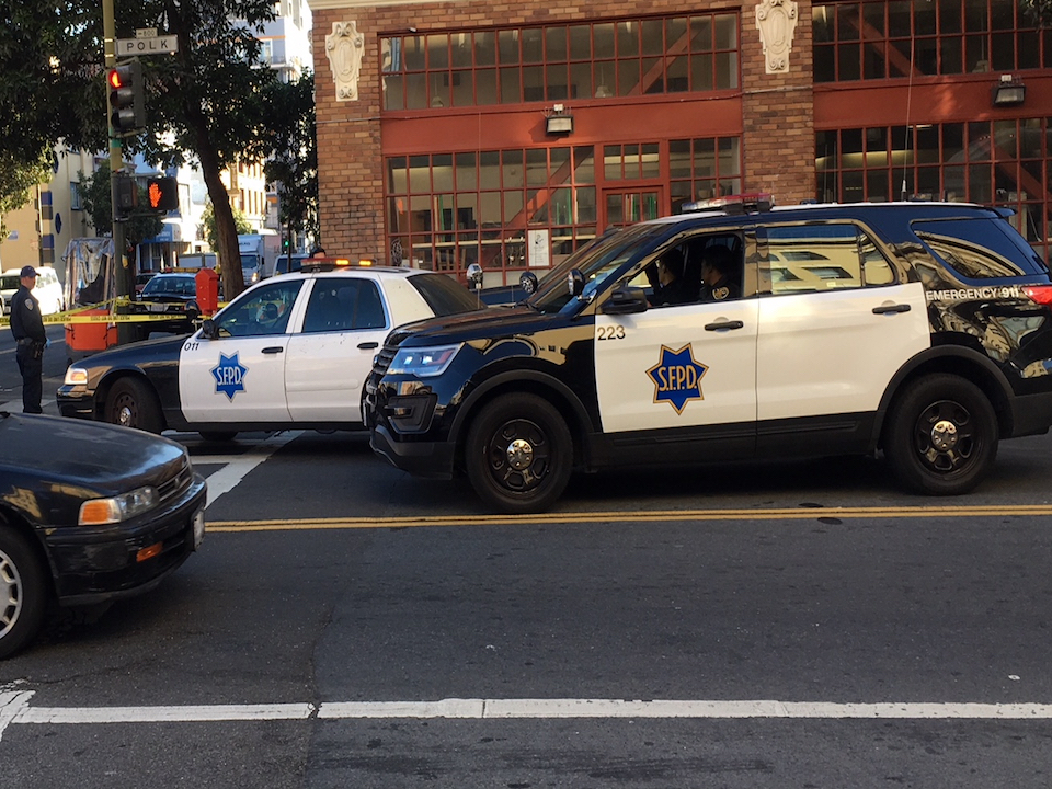 Sfpd at polk and ellis feb 2018