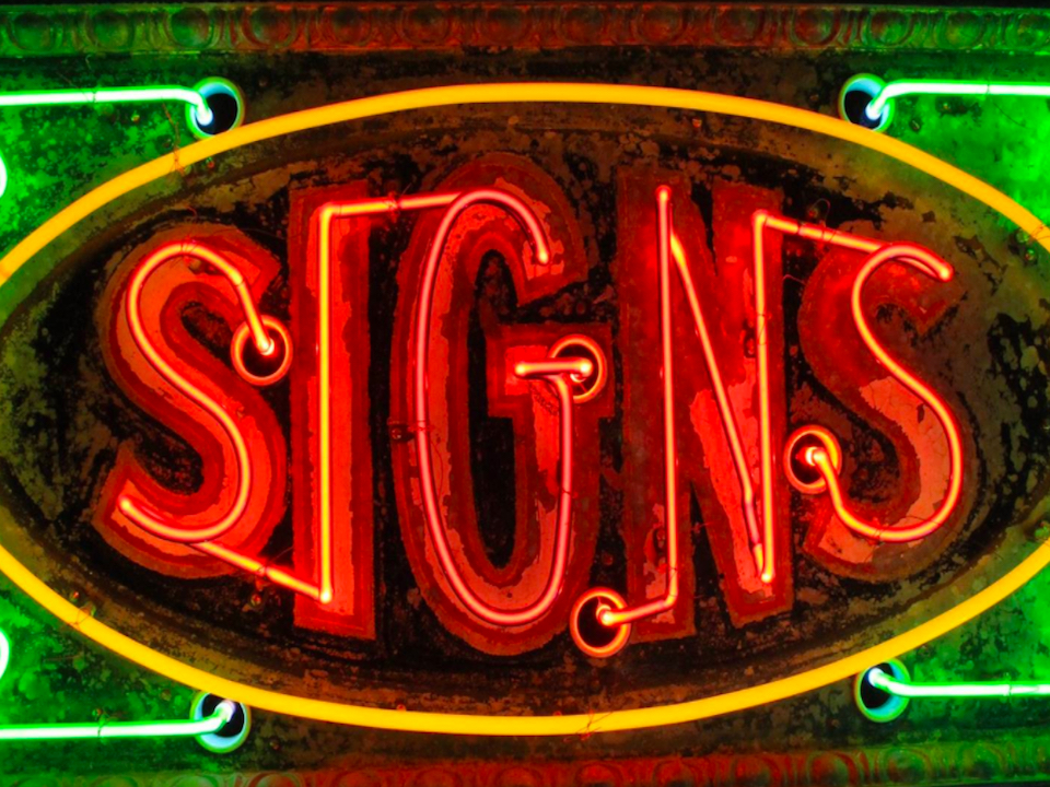 Neon signs sign