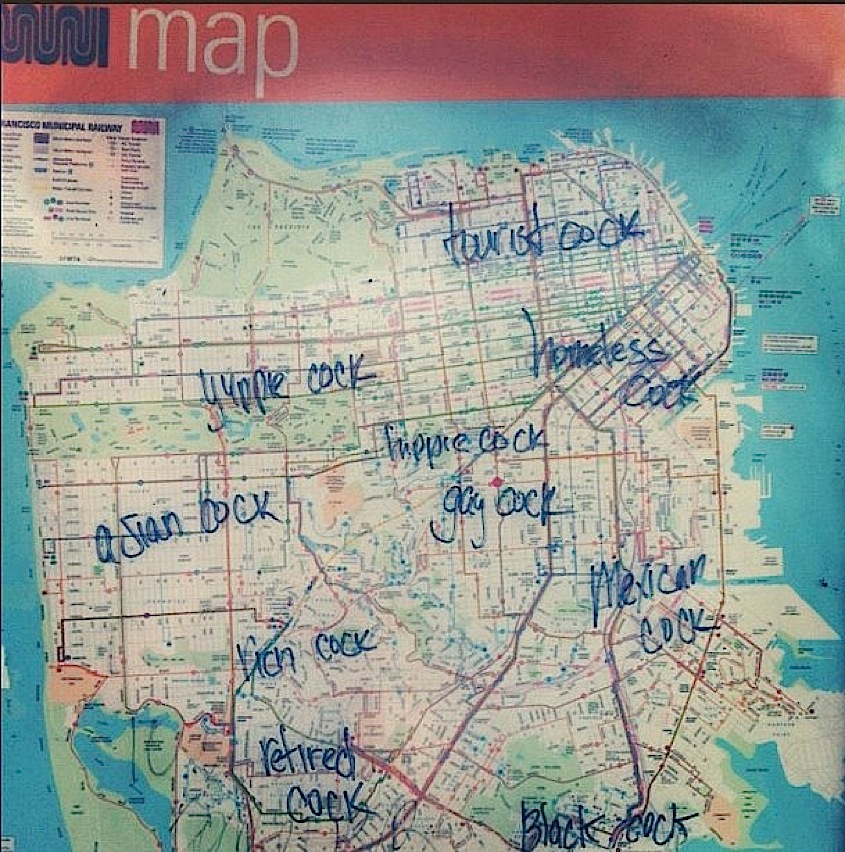 Gay Man S Unabridged Muni Map Of The Castro Other San Francisco