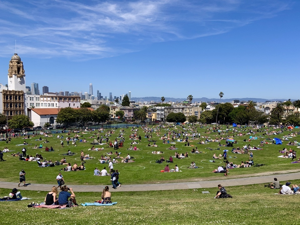 Dolores Park over Memorial Day weekend.