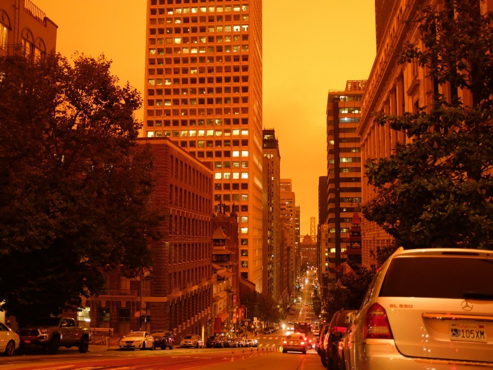 Apocalyptic Orange Sky Hit San Francisco