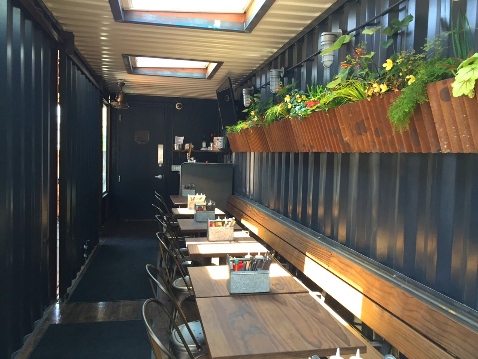 4505 Burgers U0026 BBQ Debuts Shipping Container Patio